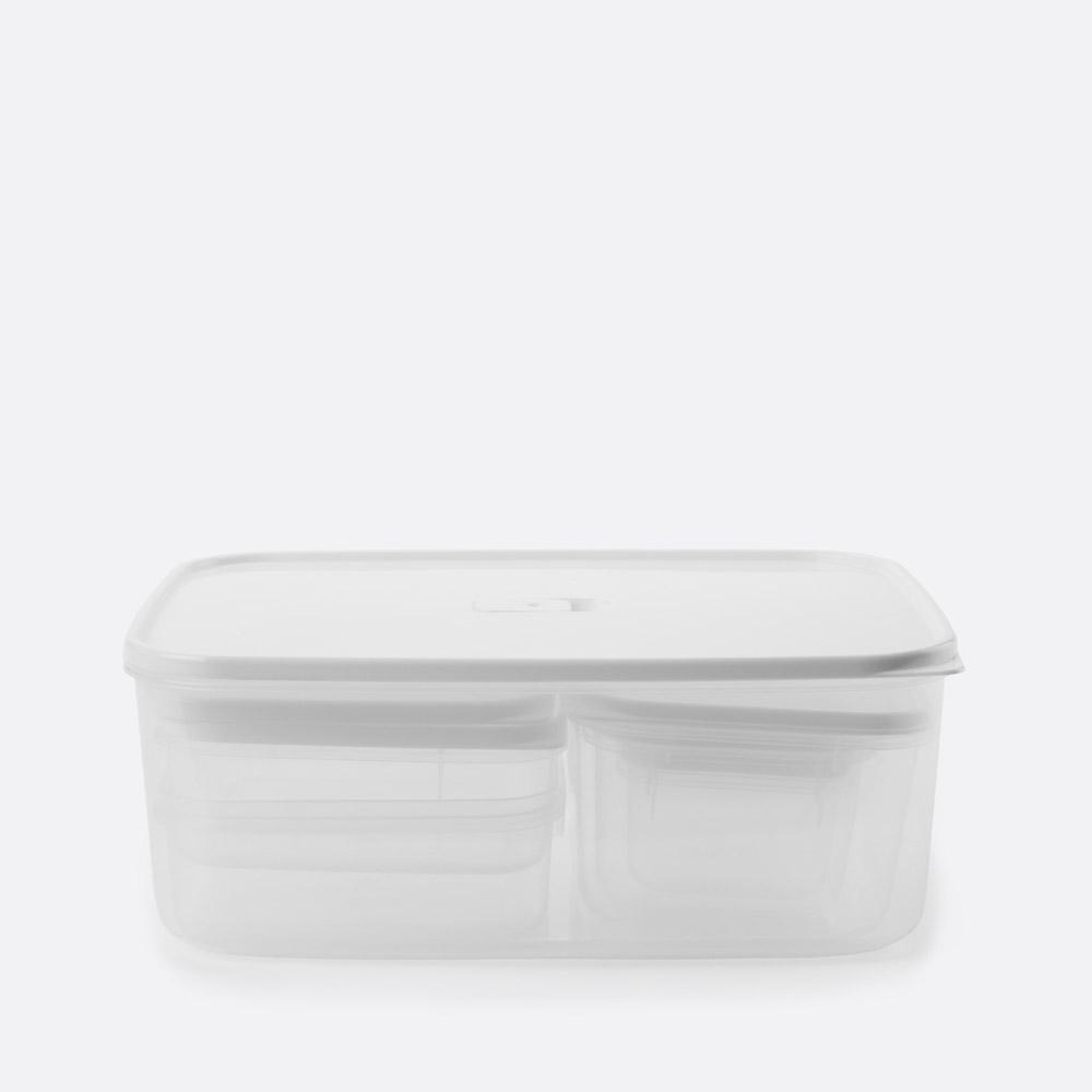 Conjunto de 6 caixas para alimentos CATIRA