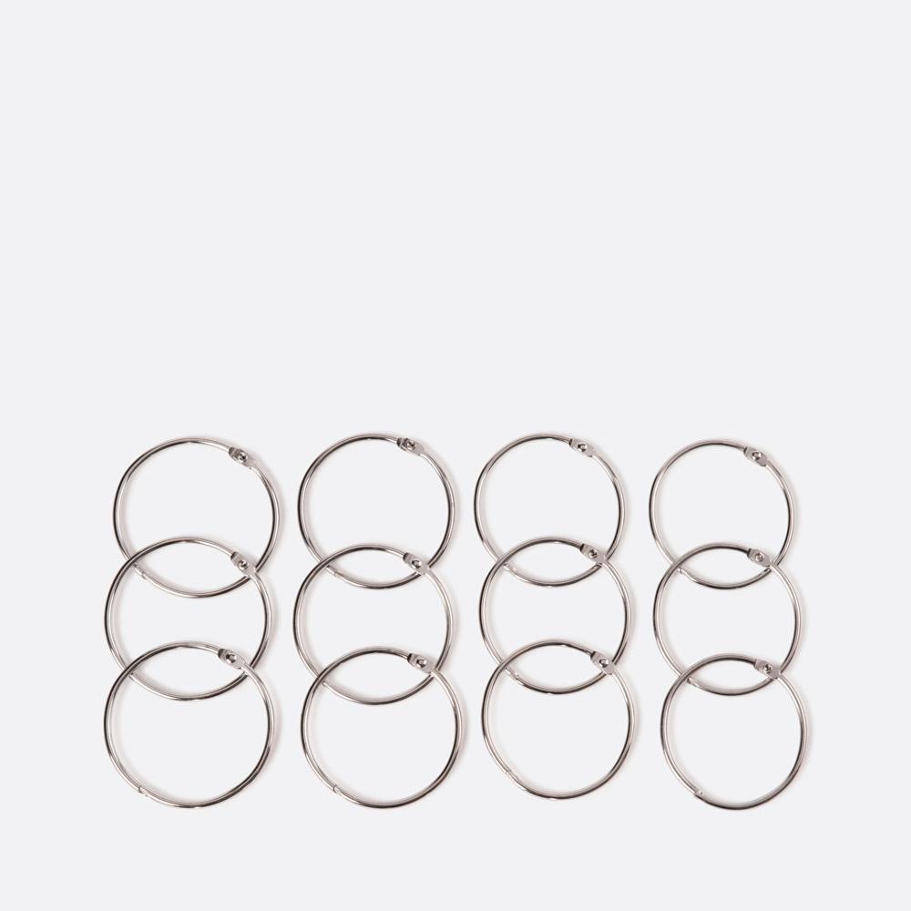 Conjunto 12 argolas para cortina de duche KIRANI