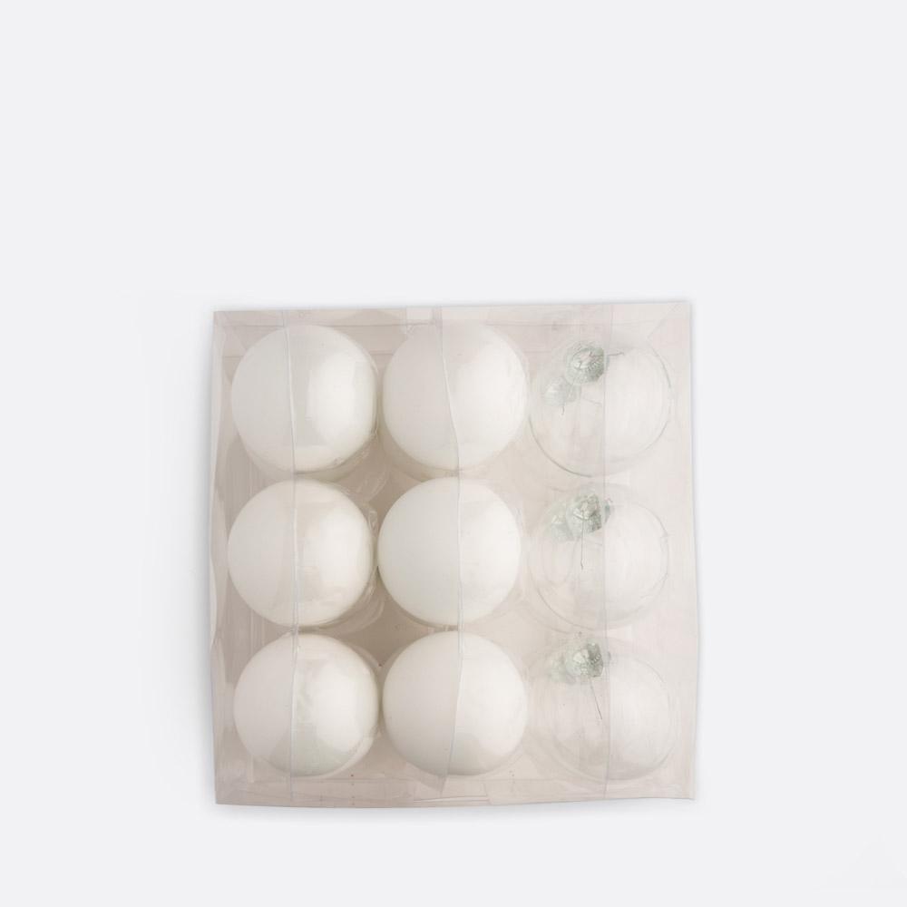 Conjunto de 18 bolas de natal PUR