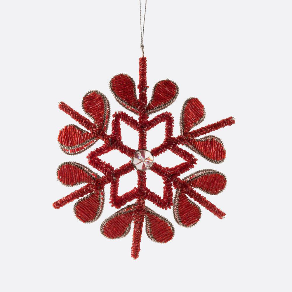 Enfeite de natal floco de neve CRYSTAL