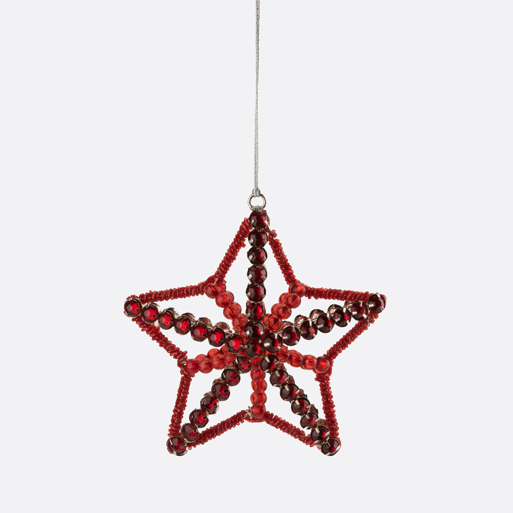 Enfeite de natal estrela CRYSTAL