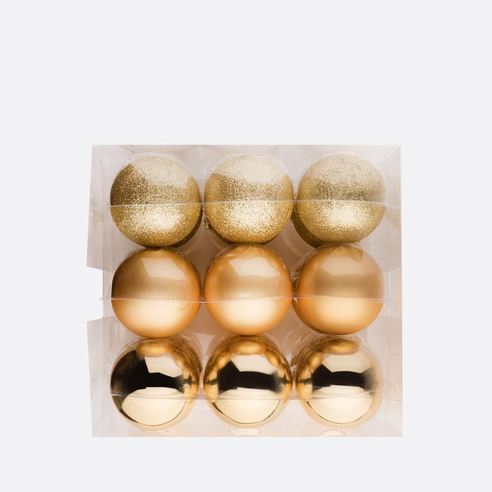Conjunto de 18 bolas de natal BLING