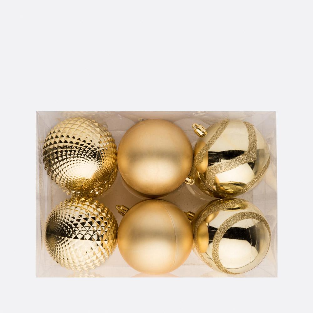 Conjunto 12 bolas de natal BLING