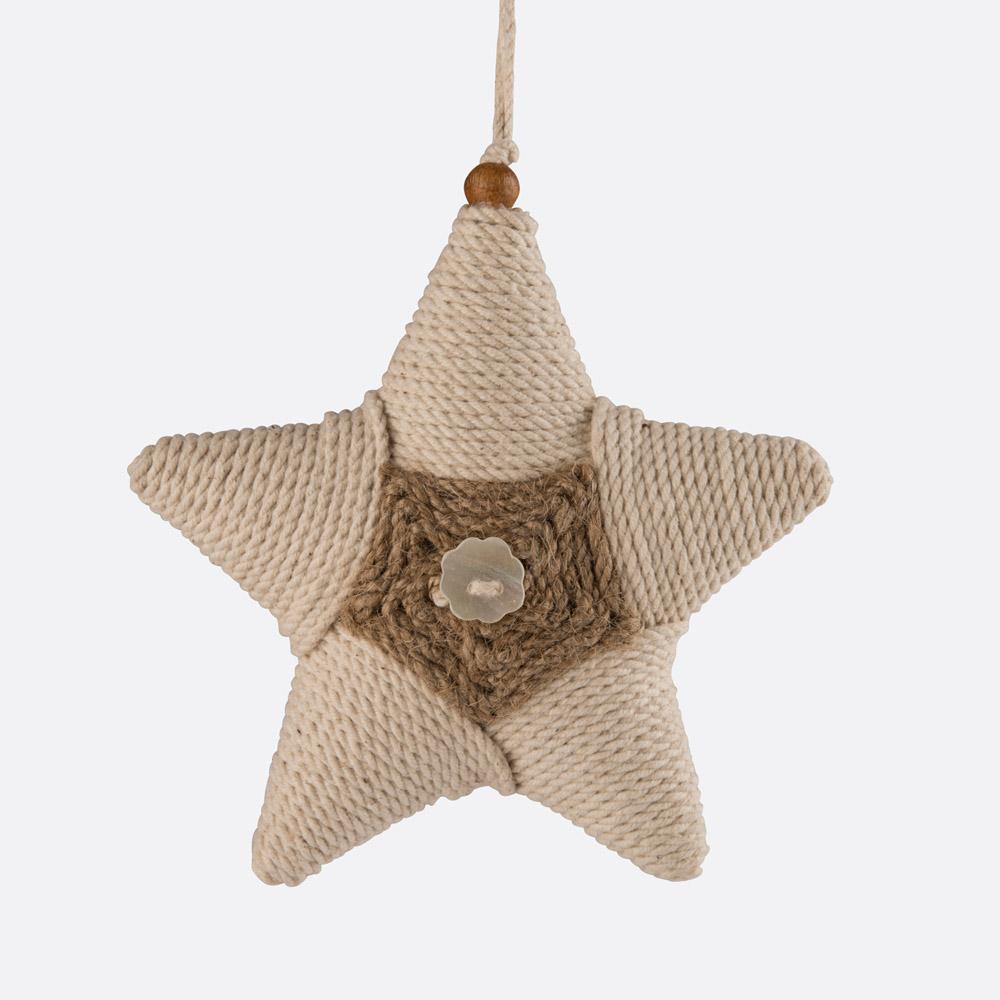 Enfeite de natal estrela FLUF