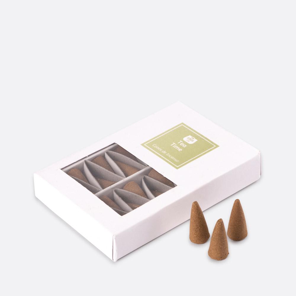 Caixa 20 cones de incenso TEA TIME