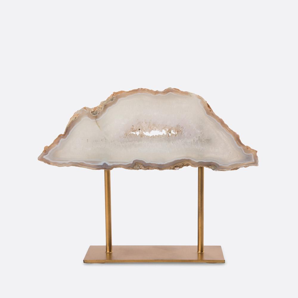 Peça decorativa pedra ágata RILEY