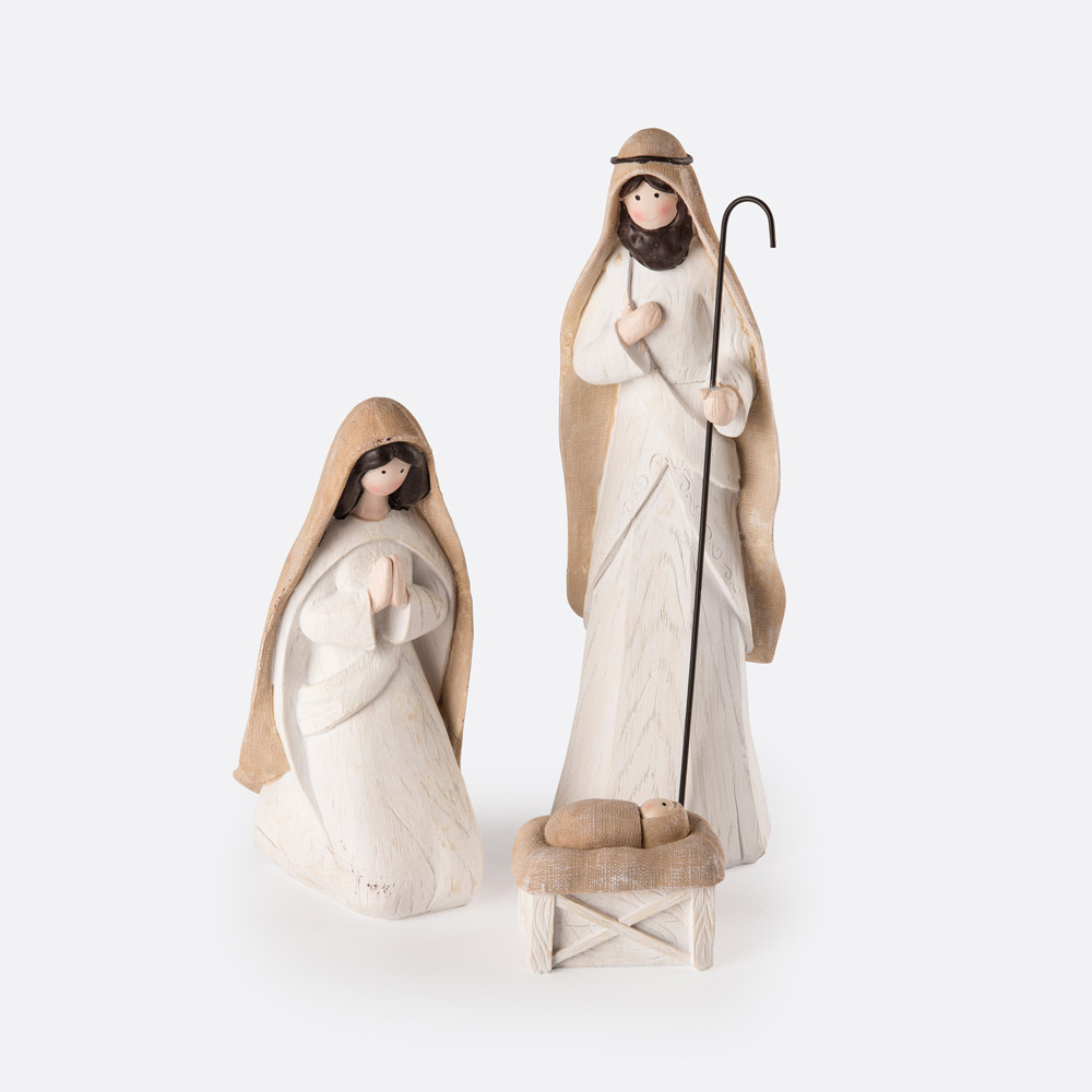 Conjunto 3 figuras de presépio LOVUN