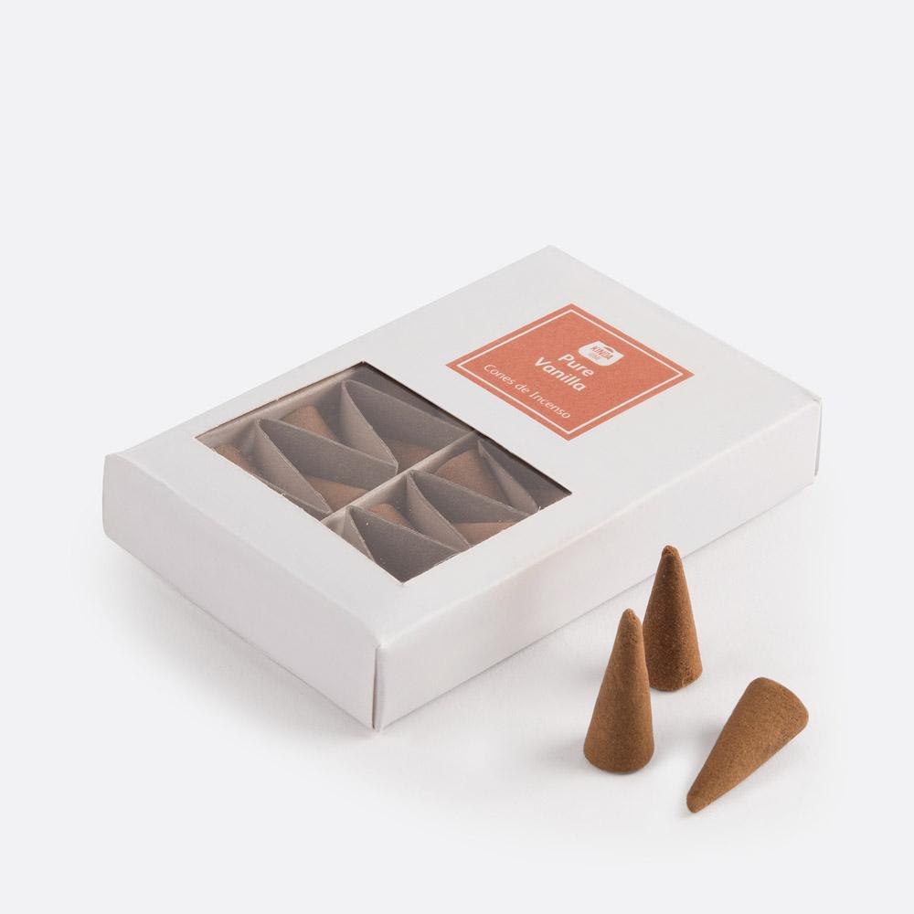 Caixa 20 cones de incenso PURE VANIL