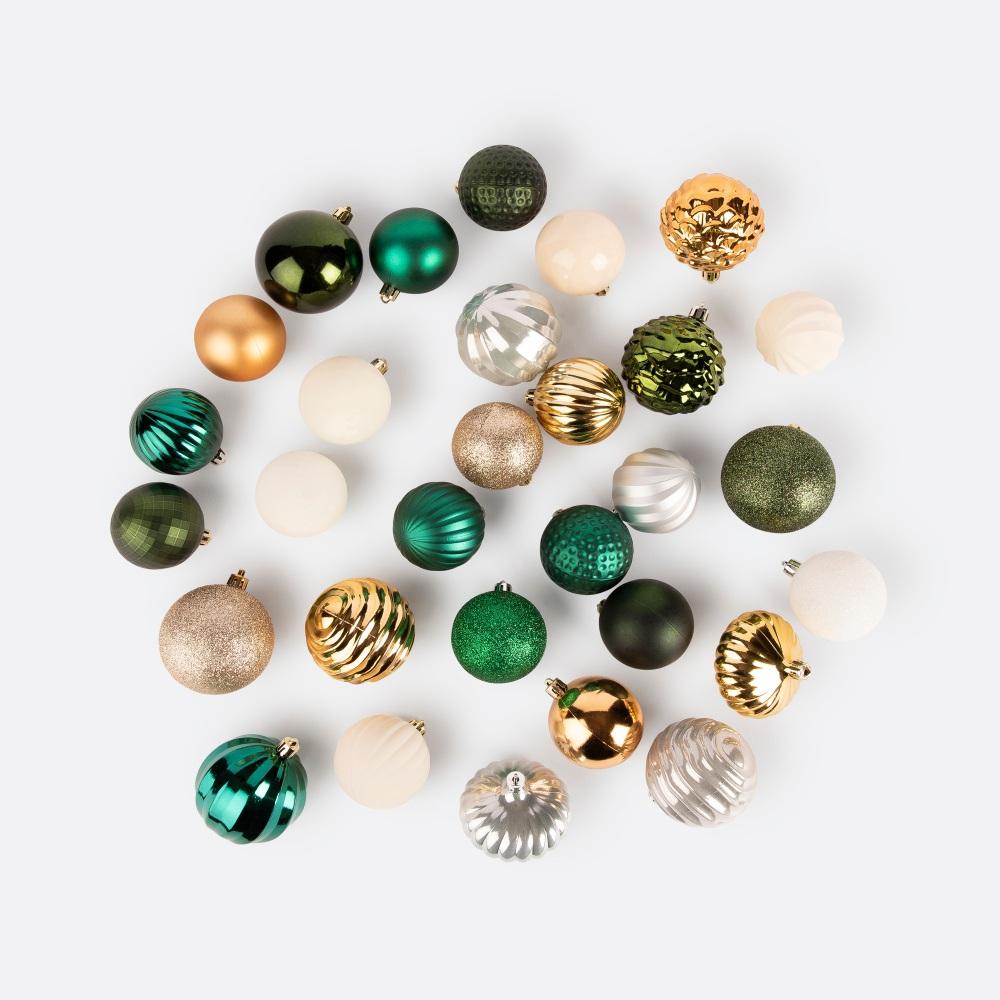 Conjunto 60 bolas de natal MUBALL