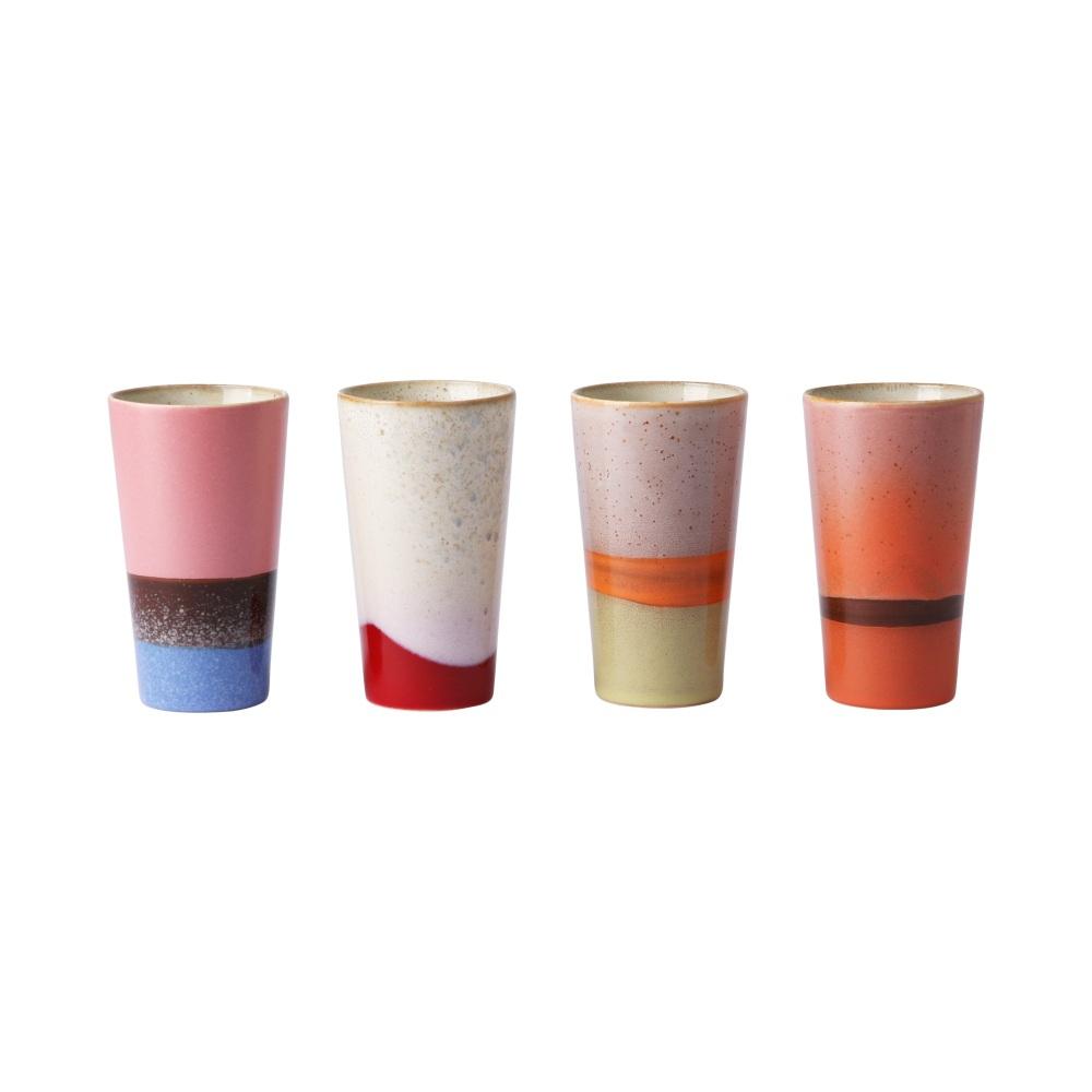 Conjunto de 4 canecas latte TRENDY