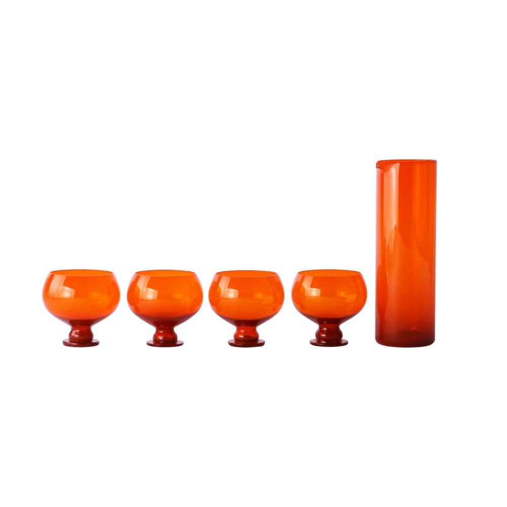Conjunto de 4 copos e jarro TRENDY